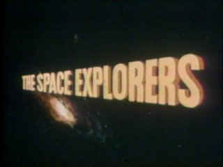 The Space Explorers title credit board.  Original artwork.